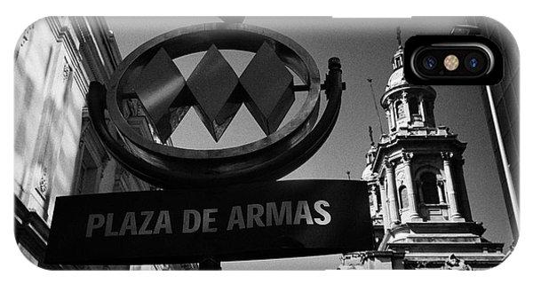 plaza de armas metro station near Santiago Metropolitan Cathedral Chile Phone Case by Joe Fox