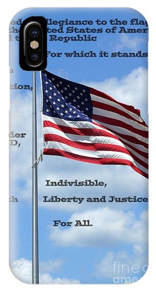 Pledge Of Allegiance IPhone Case