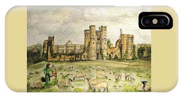 Plein Air Painting At Cowdray House Sussex IPhone Case