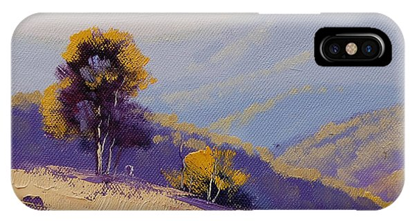 Farm iPhone Case - Plein Air  Study by Graham Gercken