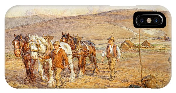 Plowing iPhone Case - Ploughing by Joseph Harold Swanwick