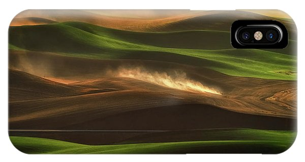 Rural America iPhone Case - Plowing by Lydia Jacobs