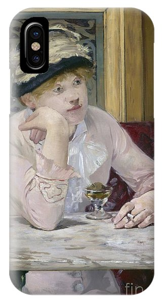 Alcoholism iPhone Case - Plum Brandy by Edouard Manet