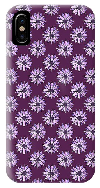 Violet iPhone Case - Plum Daisies by Jenny Armitage