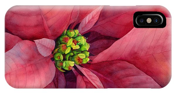 Bloom iPhone Case - Plum Poinsettia by Hailey E Herrera