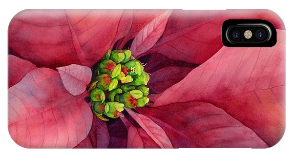 Blooming iPhone Case - Plum Poinsettia by Hailey E Herrera