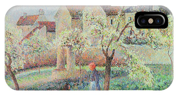 Orchard iPhone Case - Plum Trees In Flower by Camille Pissarro
