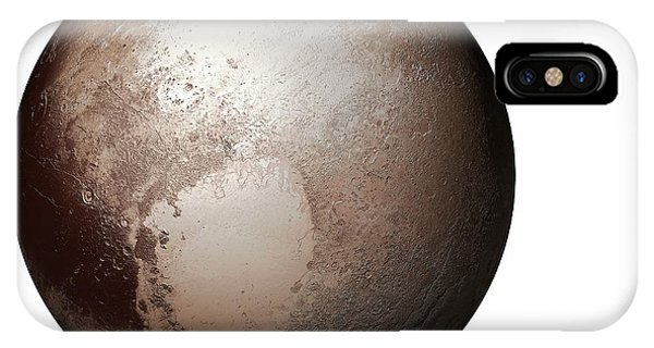 Cutout iPhone Case - Pluto From Space by Mikkel Juul Jensen