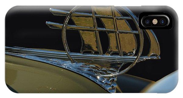 Schooner iPhone Case - Plymouth Schooner Hood Ornament by Chris Flees