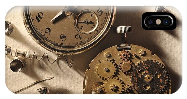 Pocket Watch Macro Number 1 Phone Case by John B Poisson