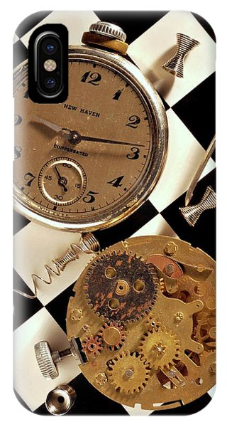 Pocket Watch Macro Number 2 Phone Case by John B Poisson