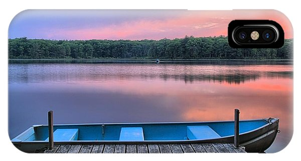Poconos Lake Whitney Sunset Rowboat IPhone Case