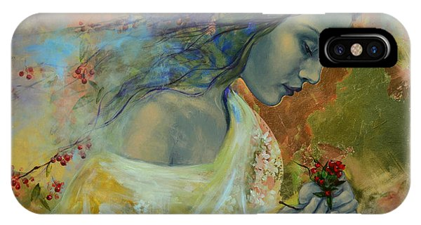 Figurative iPhone Case - Poem At Twilight by Dorina  Costras