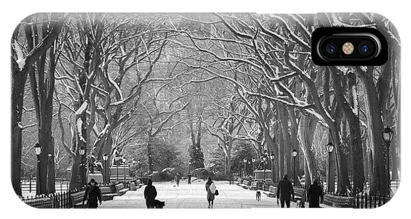 New York City - Poets Walk Winter IPhone Case