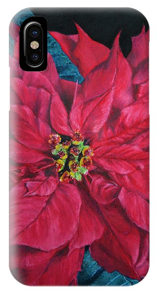 Poinsettia II Painting IPhone Case