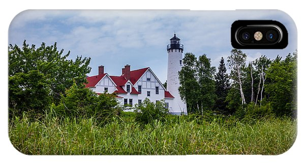 Point Iroquois Lighthouse IPhone Case
