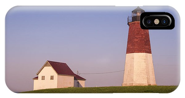 Navigation iPhone Case - Point Judith Lighthouse by Juli Scalzi