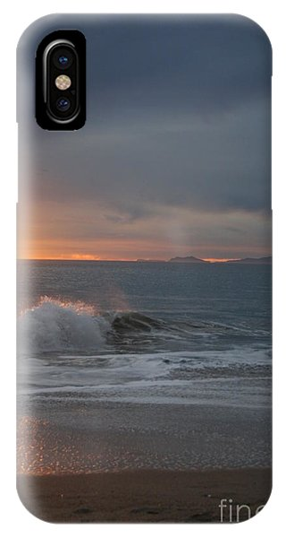 Point Mugu 1-9-10 Sun Setting With Surf IPhone Case