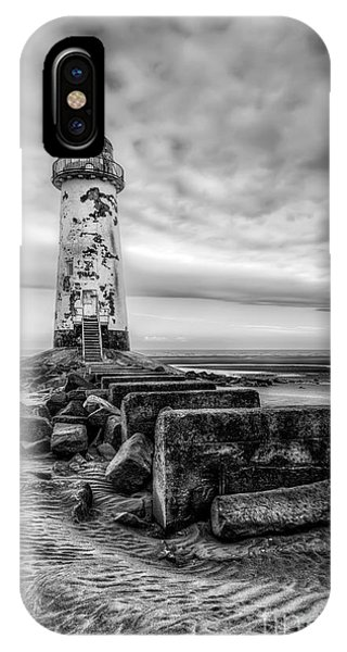 Navigation iPhone Case - Point Of Ayre Lighthouse by Adrian Evans