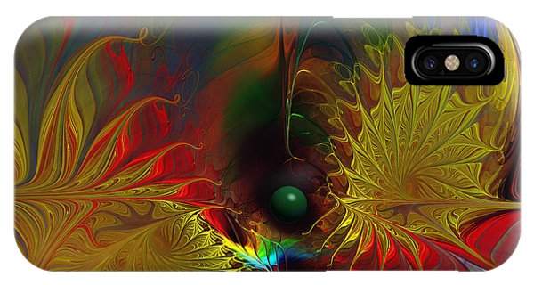 Point Of No Return-abstract Fractal Art IPhone Case