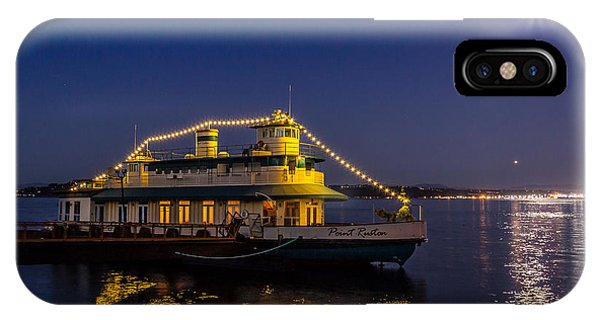 Point Ruston Visitor Center Ship At Night IPhone Case