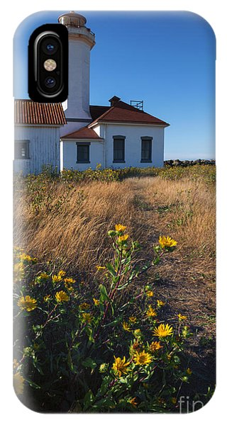 Port Townsend iPhone Case - Point Wilson Lighthouse by Mike  Dawson