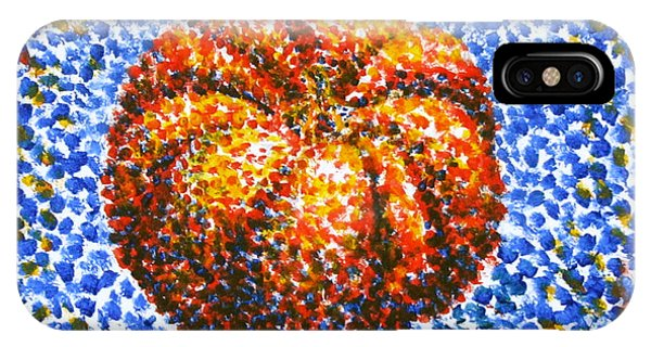 Samantha iPhone Case - Pointillism Pumpkin by Samantha Geernaert