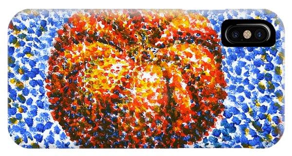 Pointillism Pumpkin IPhone Case