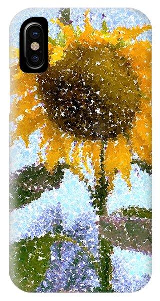Pointillist Sunflower In Sun City IPhone Case