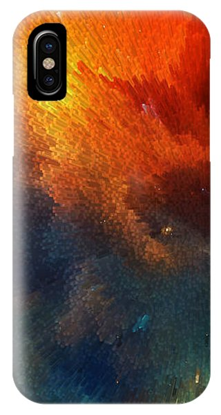 Mustard iPhone Case - Points Of Light Abstract Art By Sharon Cummings by Sharon Cummings