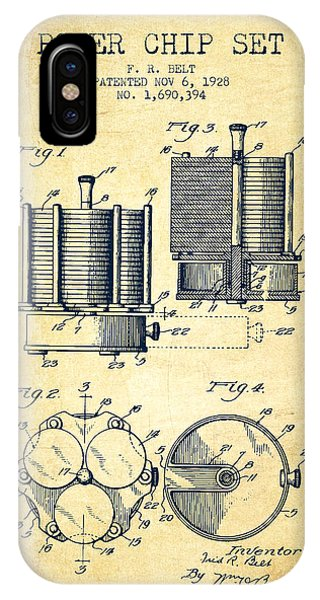 Poker Chip Set Patent From 1928 - Vintage IPhone Case