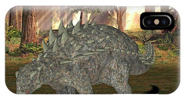 Polacanthus Dinosaur Phone Case by Friedrich Saurer