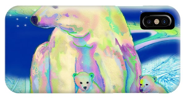 Polar Bear Aurora IPhone Case