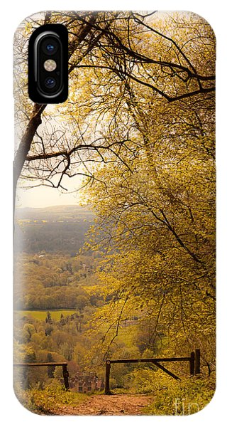 pole fence at top of picturesque view of Steep from Ashford Hang IPhone Case
