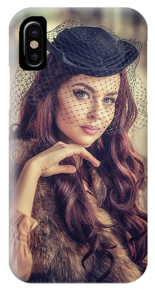 Beauty iPhone Case - Polina. Retro. by Tatyana Nevmerzhytska