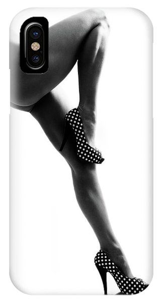 Body iPhone Case - Polka Dots by Bart Peeters