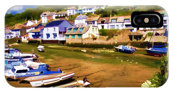 English Village iPhone Case - Polperro At Low Tide by David Smith