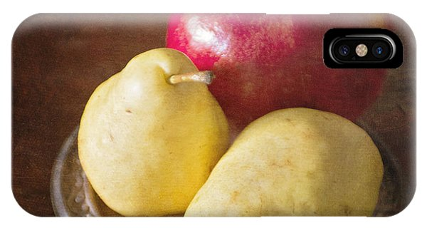 Pomegranate And Yellow Pear Still Life IPhone Case