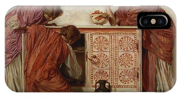 Pre-modern iPhone Case - Pomegranates, 1866 Oil On Canvas by Albert Joseph Moore