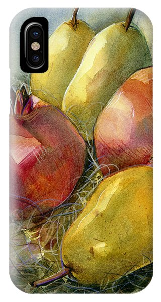 Pear iPhone Case - Pomegranates And Pears by Jen Norton