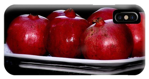 Pomegranates On White Platter IPhone Case