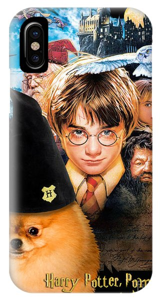 Pomeranian Art Canvas Print - Harry Potter Movie Poster IPhone Case