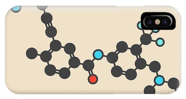 Chronic iPhone Case - Ponatinib Cancer Drug Molecule by Molekuul