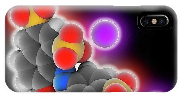 Scarlet iPhone Case - Ponceau 4r Molecule by Laguna Design