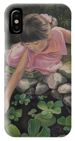 Girls In Pink iPhone Case - Pond Magic by Holly Kallie