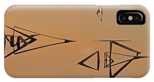 Pond Reeds Sunrise 3 IPhone Case