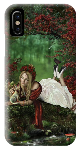 Cassiopeiaart iPhone Case - Pondering by Cassiopeia Art
