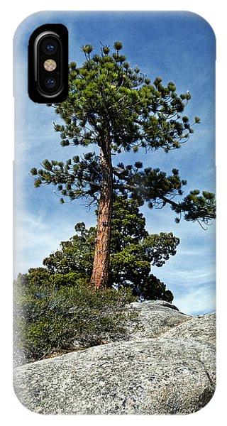 Ponderosa Pine And Granite Boulders IPhone Case