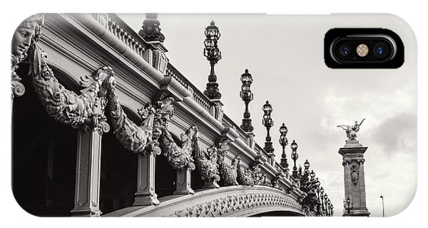 Road iPhone Case - Pont Alexandre IIi by Melanie Alexandra Price