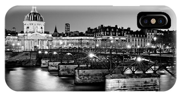IPhone Case featuring the photograph Pont Des Arts And Institut De France / Paris by Barry O Carroll